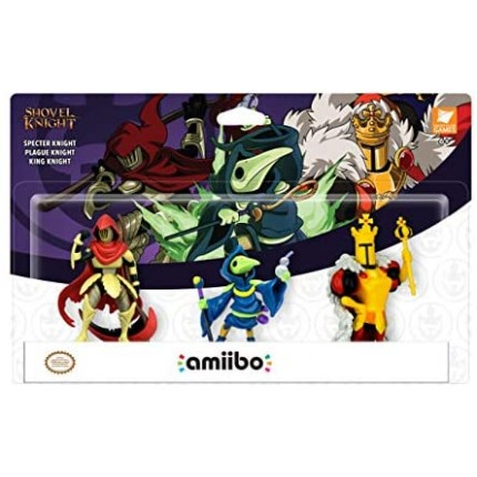 Nintendo Amiibo 3 pack - Shovel Knight(Specter,Plague,King)