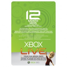 Xbox360 Live Gold Card 12 Month