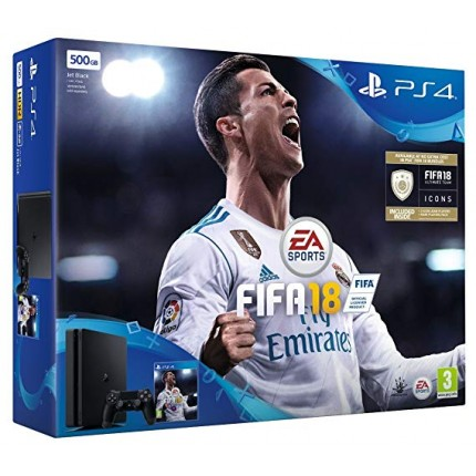 PS4 Slim 500GB + FIFA 18 (fw 5.05) - KRAKUVANA