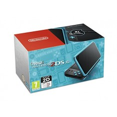 NEW Nintendo 2DS XL Console Black & Turquoise / 3DS