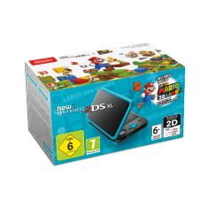 NEW Nintendo 2DS XL Console Black & Turquoise + Super Mario 3D Land