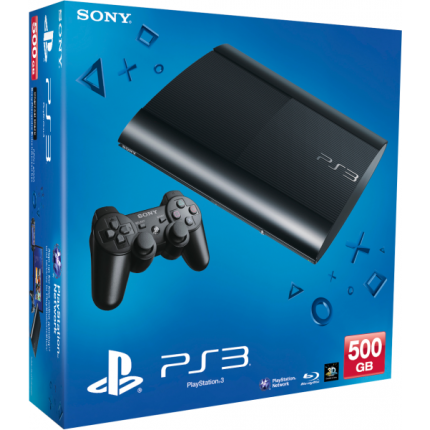 Playstation 3 Super Slim console 500Gb Black (kako novo)