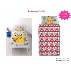 Pokemon Catch Single Panel Duvet / Homeware