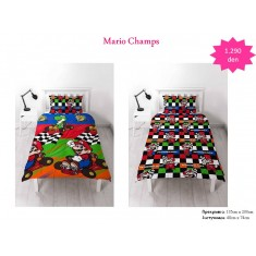 Mario Champs Single Rotary Duvet / Homeware