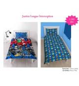 Justice League Interception Single Rotary Duvet / Homeware