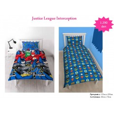 Justice League Interception Single Rotary Duvet / Homeware