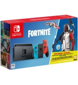 Nintendo Switch Console Neon Blue/Red Fortnite Edition
