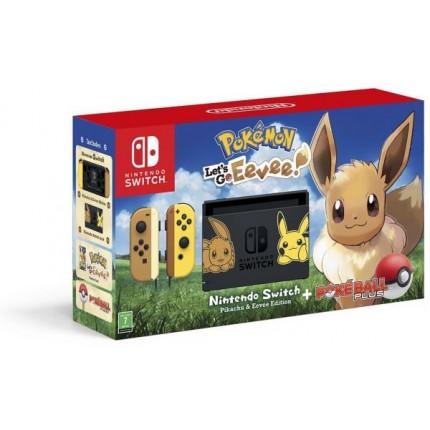Nintendo Switch ltd ed Console inc. Pokemon :Let's Go Eevee & Pokeball +