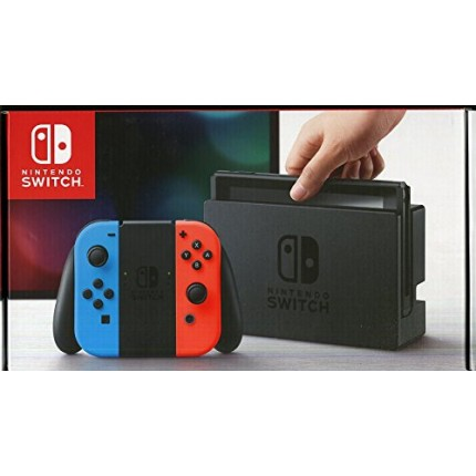 Nintendo Switch Console with Neon Red & Blue Joy-Con